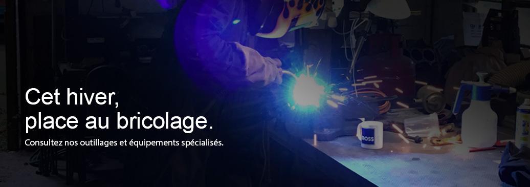 Consultez nos outillages et équipements spécialisés.